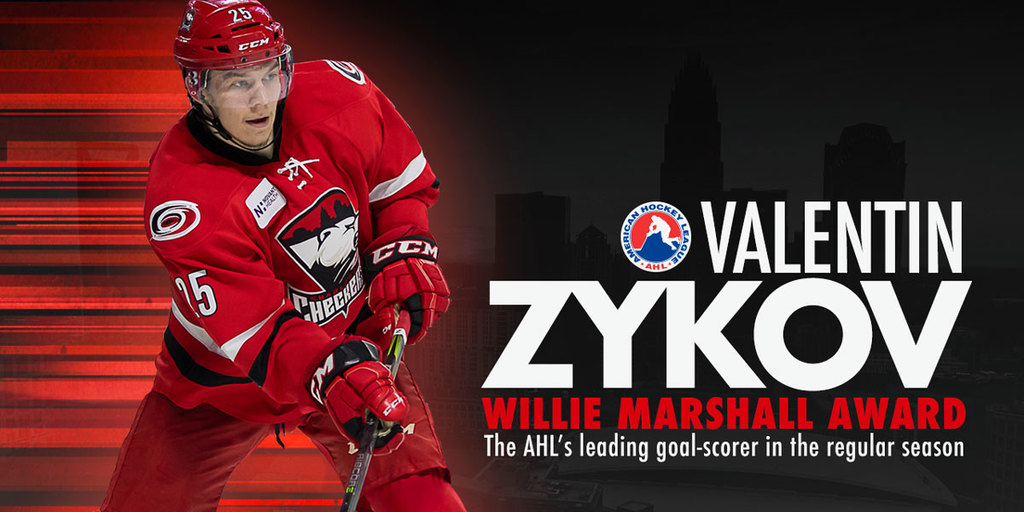 Valentin Zykov wins AHL goal scoring title