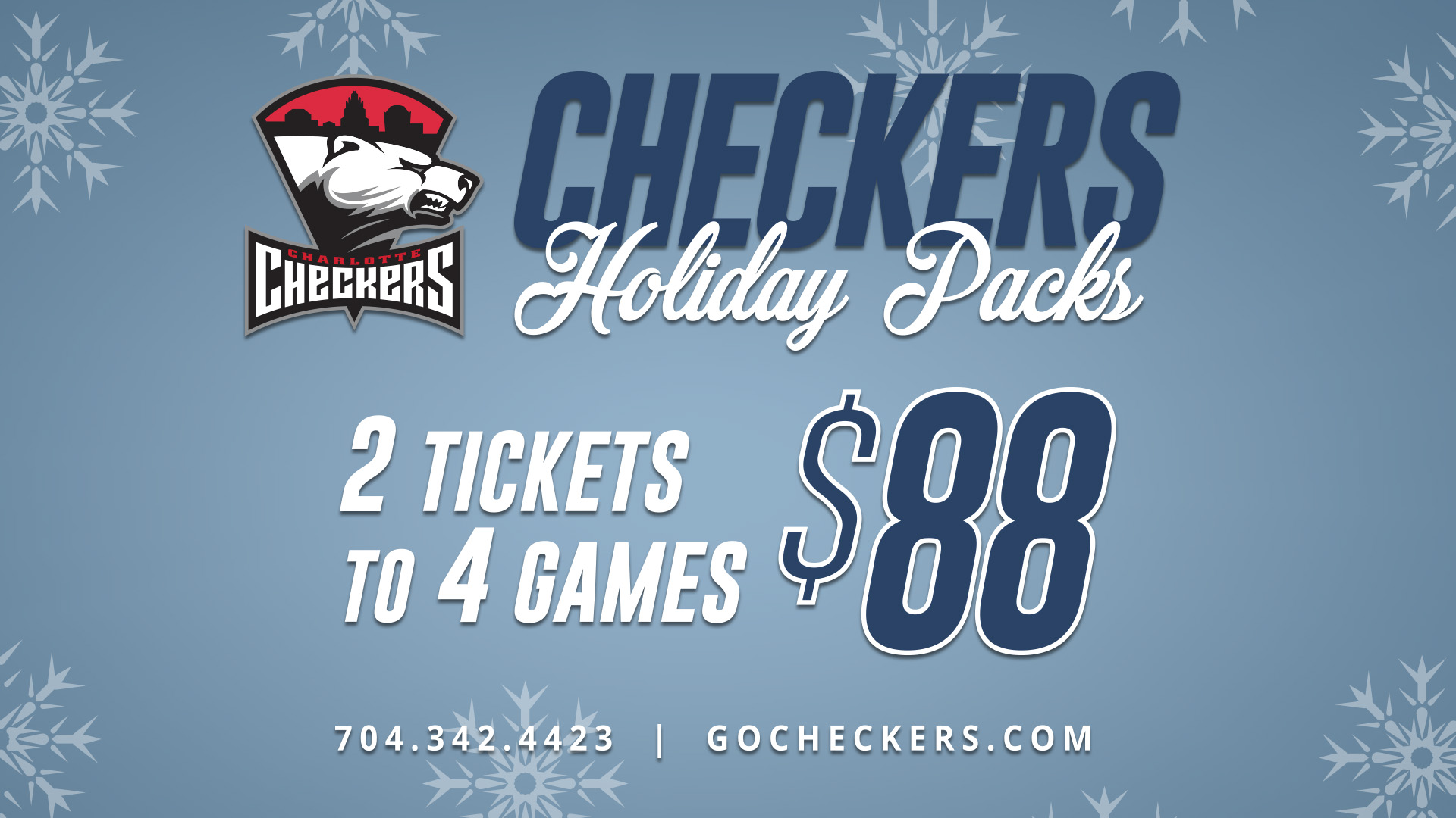 Charlotte Checkers holiday packs