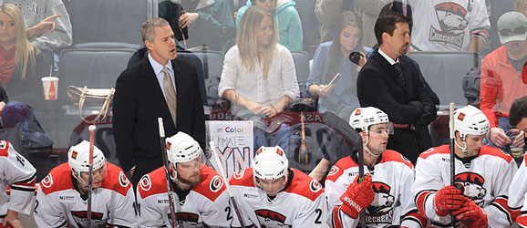 Charlotte Checkers coach Jeff Daniels
