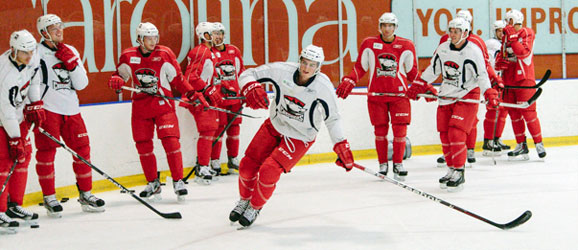 Charlotte Checkers practice