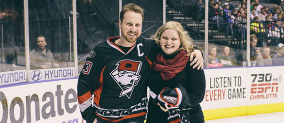 Charlotte Checkers Valentine's Day Package