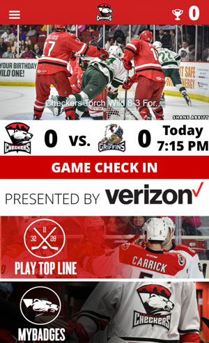 Official Charlotte Checkers mobile app